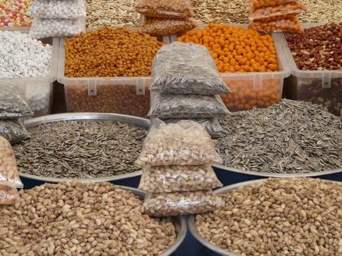 nuts grains market
