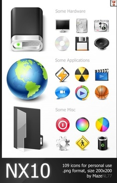 NX10 Icons icons pack