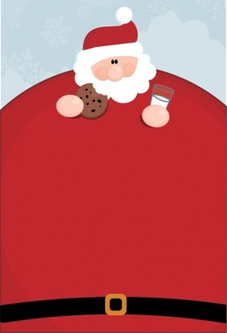 christmas background funny big belly santa icon