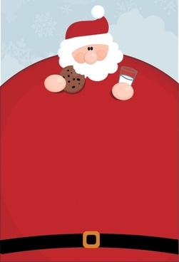 christmas background funny big belly santa icon