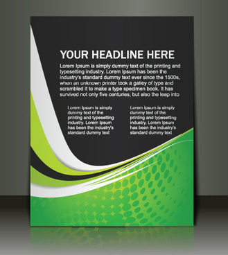 object business flyer vector