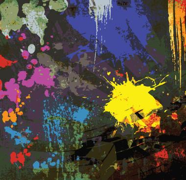 object grunge vector backgrounds set