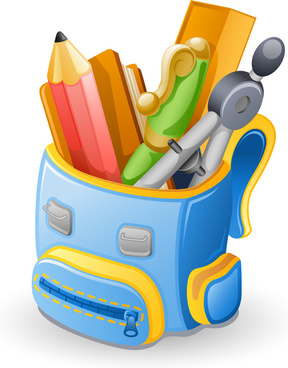 objects school supplies design vector