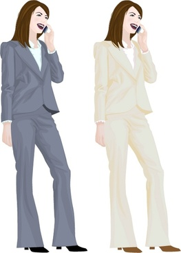 occupation people girls vector