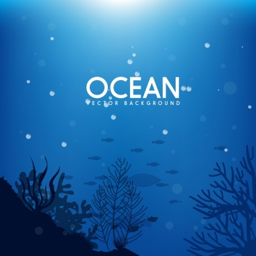 ocean background deep sea icon dark blue design