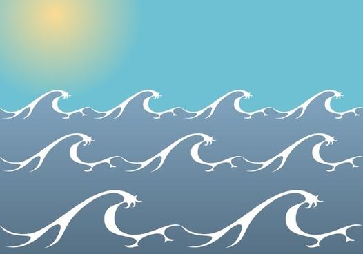 Ocean/ Sea Waves Vector