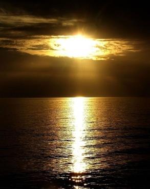 ocean sun water
