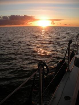 october morning at sea sunrise