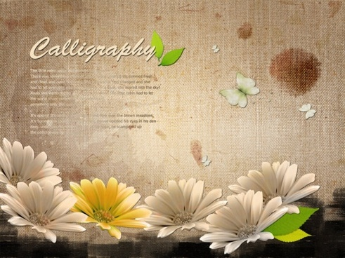 of flowers creative template 01psd the layered