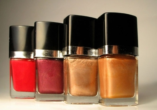 of red nail polish bottle of highdefinition picture