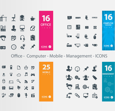 office11 computer11 mobile11 management icons vector