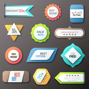 office bookmarks with labels vector