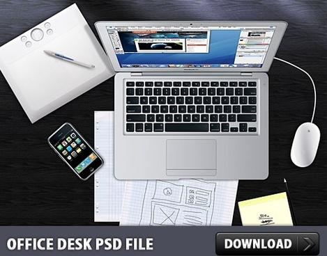 Office Desk Free PSD File