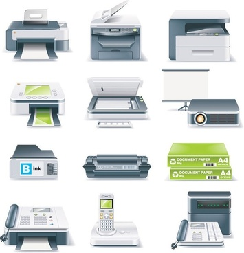 office equipment icon vector
