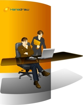 office manager vector