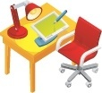 office school chairs vector