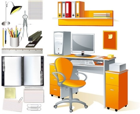 office supplies stationery vector