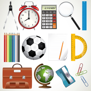 office tool and school elements icon vector