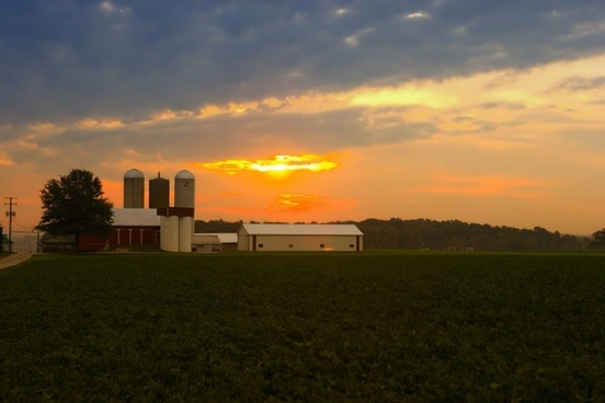 ohio farm sunrise