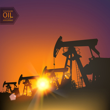 oil and development background vector