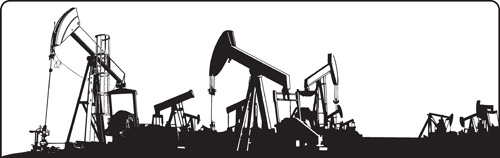 oil industry design elements vector