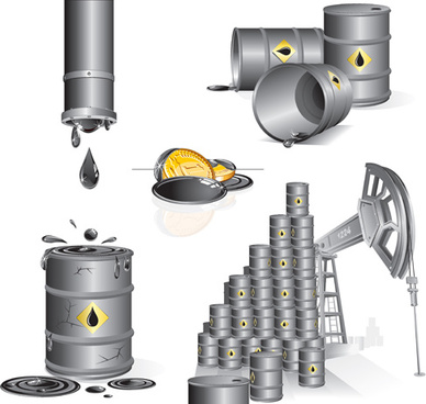 oil industry design elements vector
