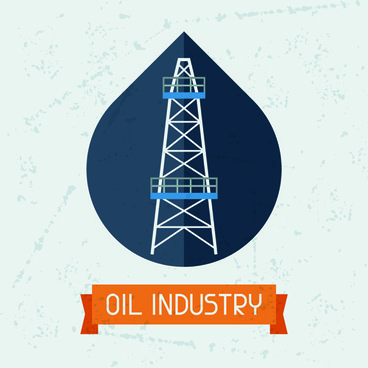 oil industry elements with grunge background