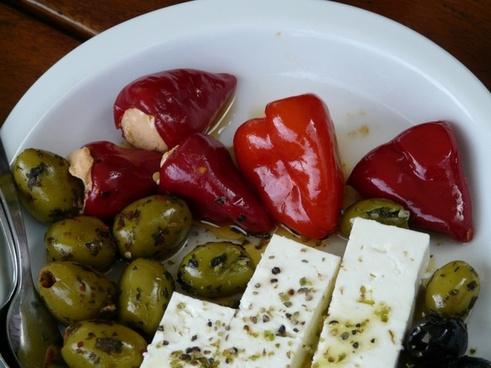 oily olives paprika