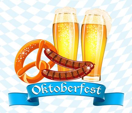 oktoberfest elements background vectors