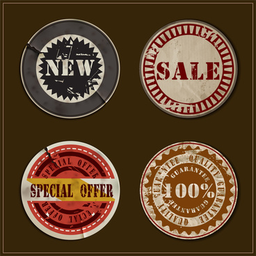 old and grunge sale badge