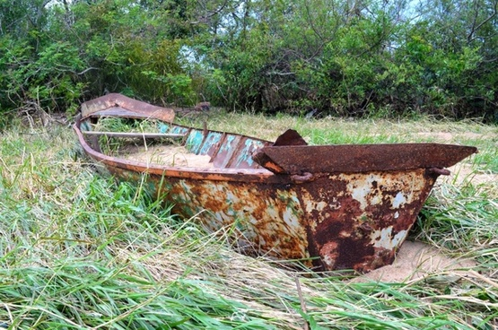 old boat rusty