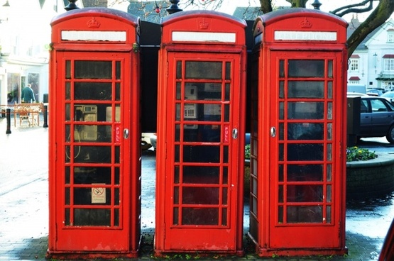 old british phone booths
