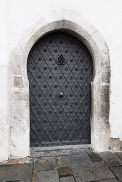 old castle door