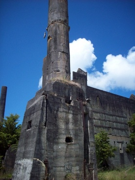 old cement ruins