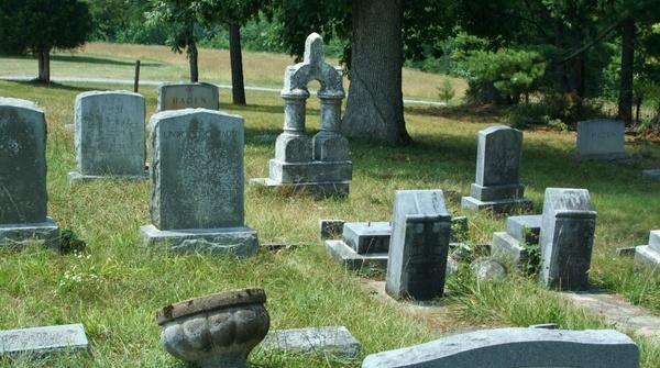 old cemetery graveyard headstones