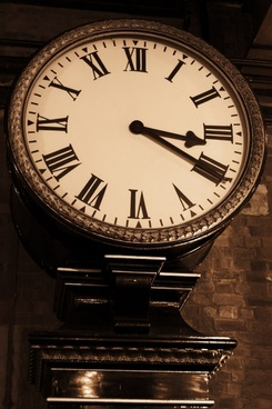 old clock in sepia