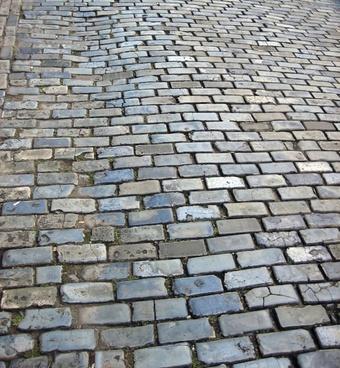 old cobblestone street grey bricks puerto rico