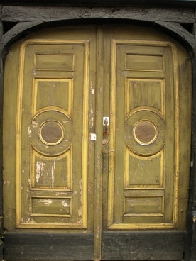 old door 1700-century panels