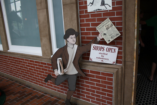 old fashioned paperboy