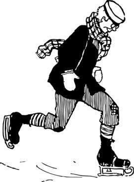 Old Fashioned Skater clip art
