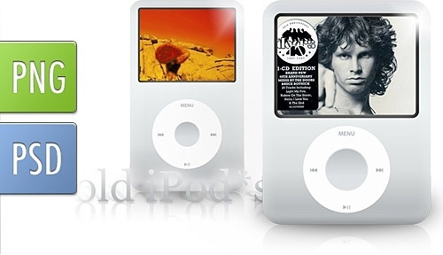 Old Generation Classic iPods PSD