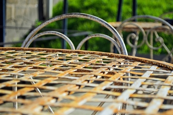 old iron table