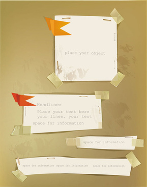 old labels paper design vector
