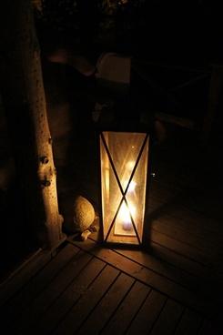 old lantern wood dark