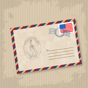 old mail envelope illustration