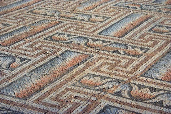 old mosaic pattern