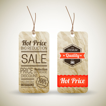 old paper price tag