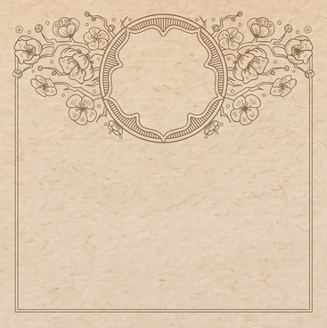 old paper with floral background vector set