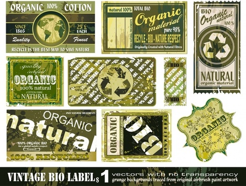 label templates collection retro grunge shapes