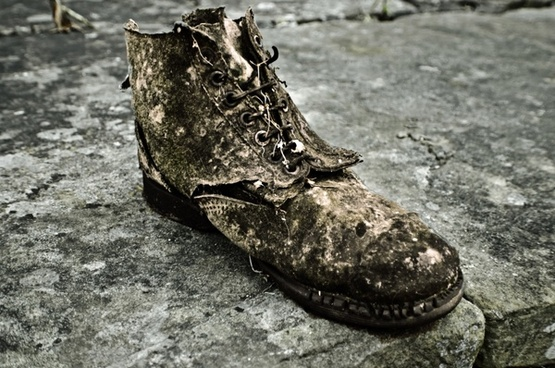 old shoes broken